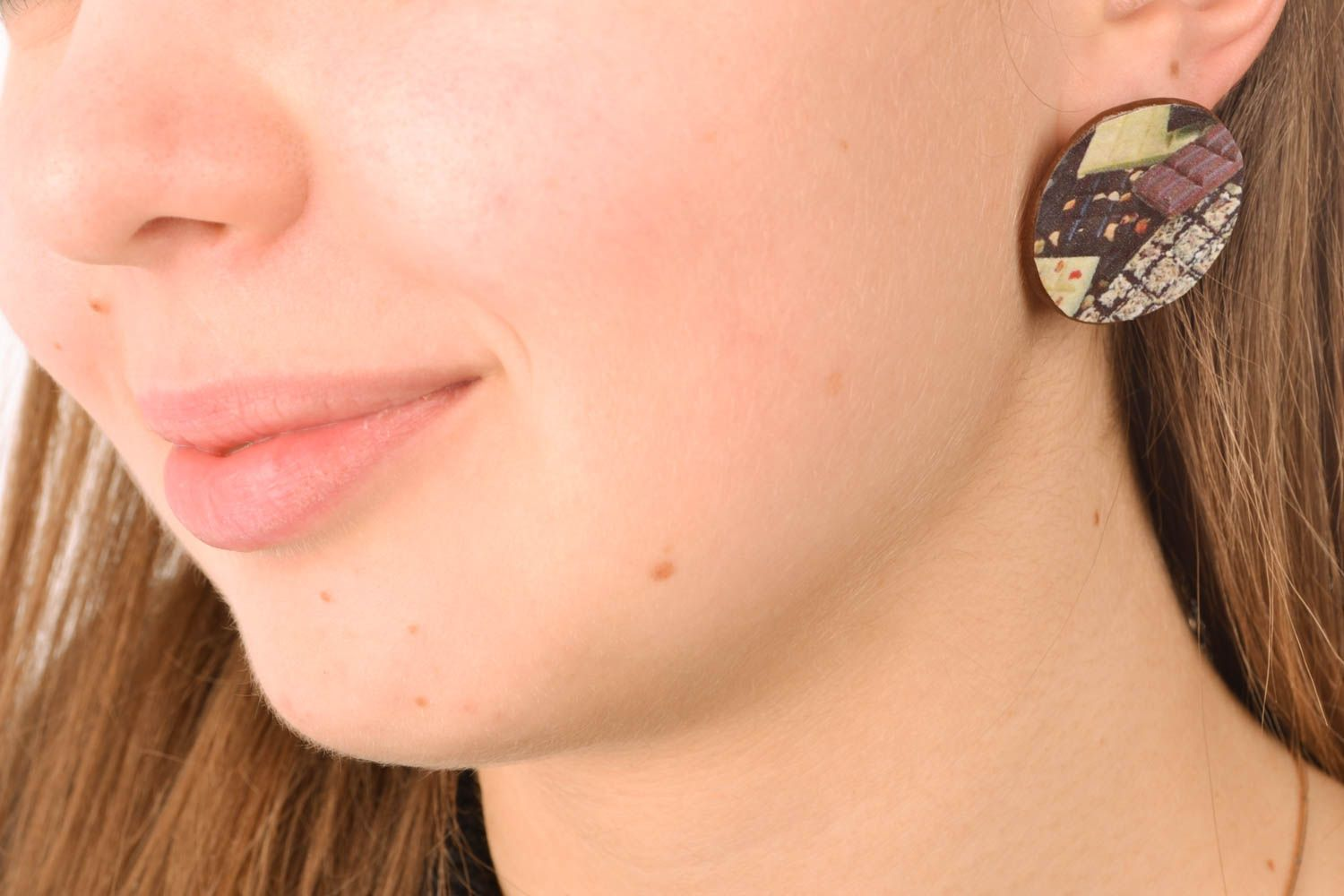 Unusual polymer clay earrings photo 5