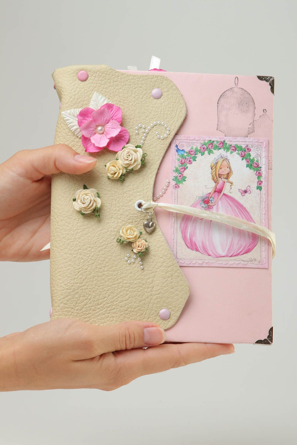 Unusual handmade photo album kids accessories album for newborns gift ideas photo 5