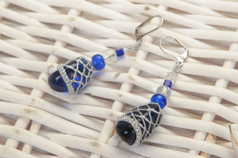 Beautiful handmade beaded earrings dangle earrings photo 1