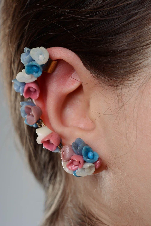 Cuff earrings June Flowers photo 3