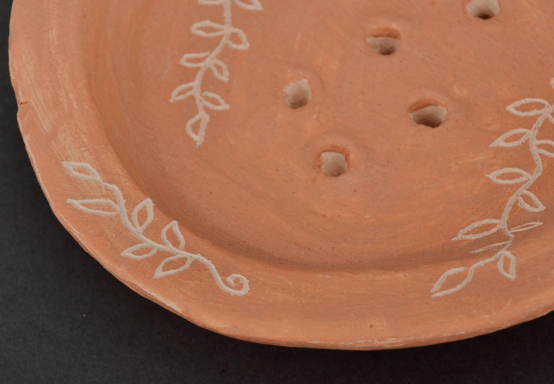 Clay soap dish photo 2