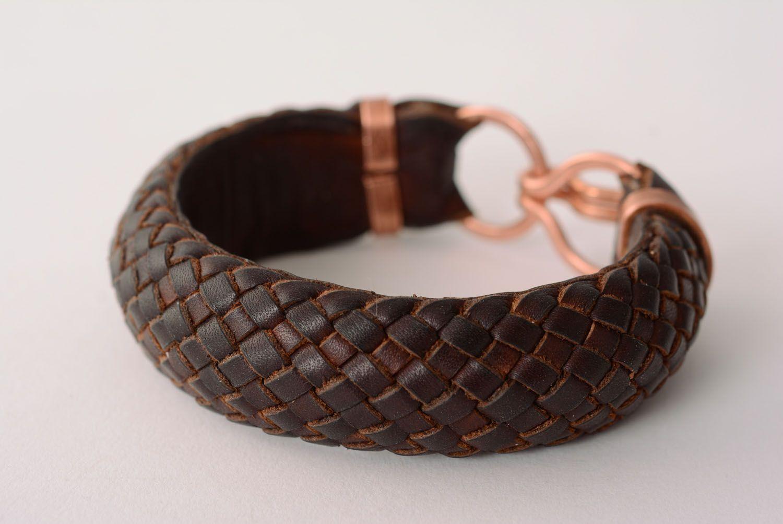 Geflochtenes Armband aus Leder foto 5