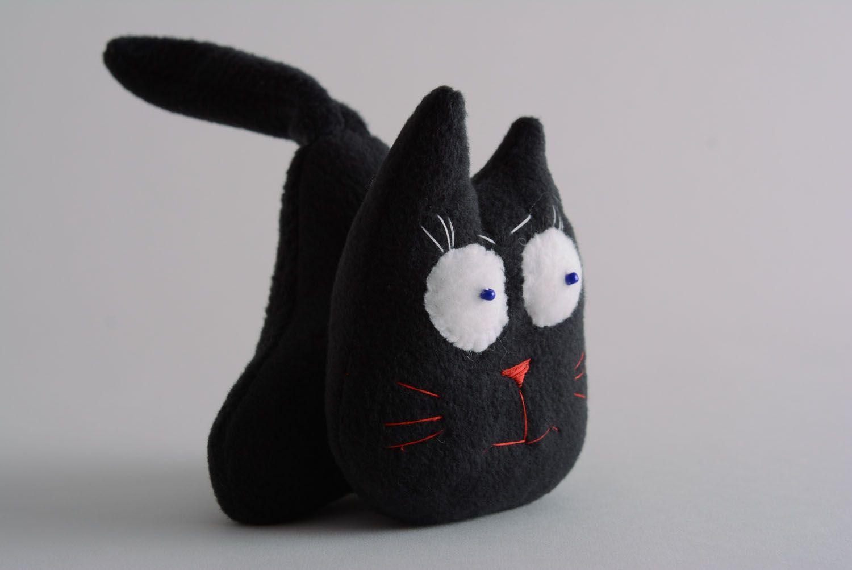 Fabric fleece toy Black Cat photo 1