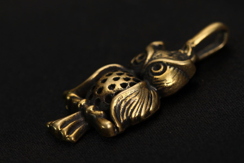 Bronze pendant Owl photo 2