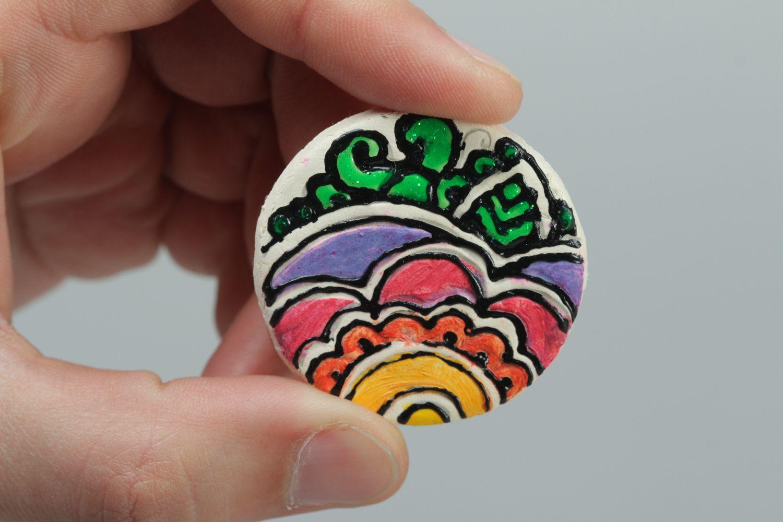 Madeheart Gt Ceramic Painted Fridge Magnet Flower