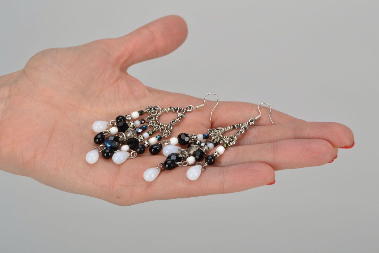Czech glass earrings photo 2