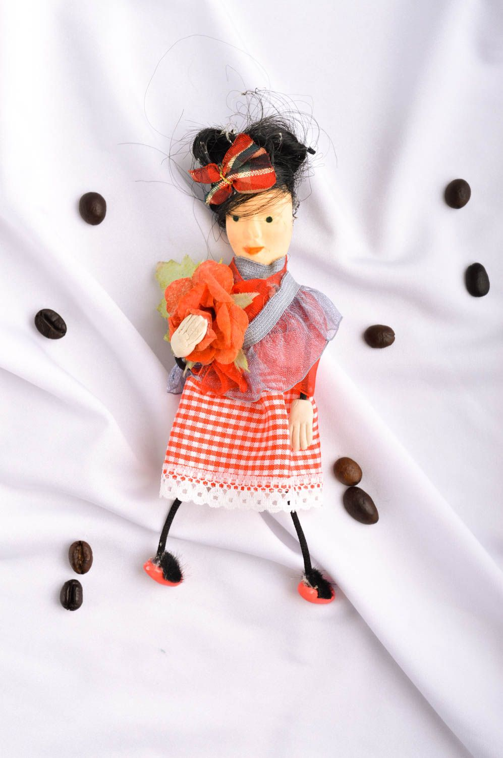 Beautiful handmade fabric toy rag doll collectible dolls decorative use only photo 1