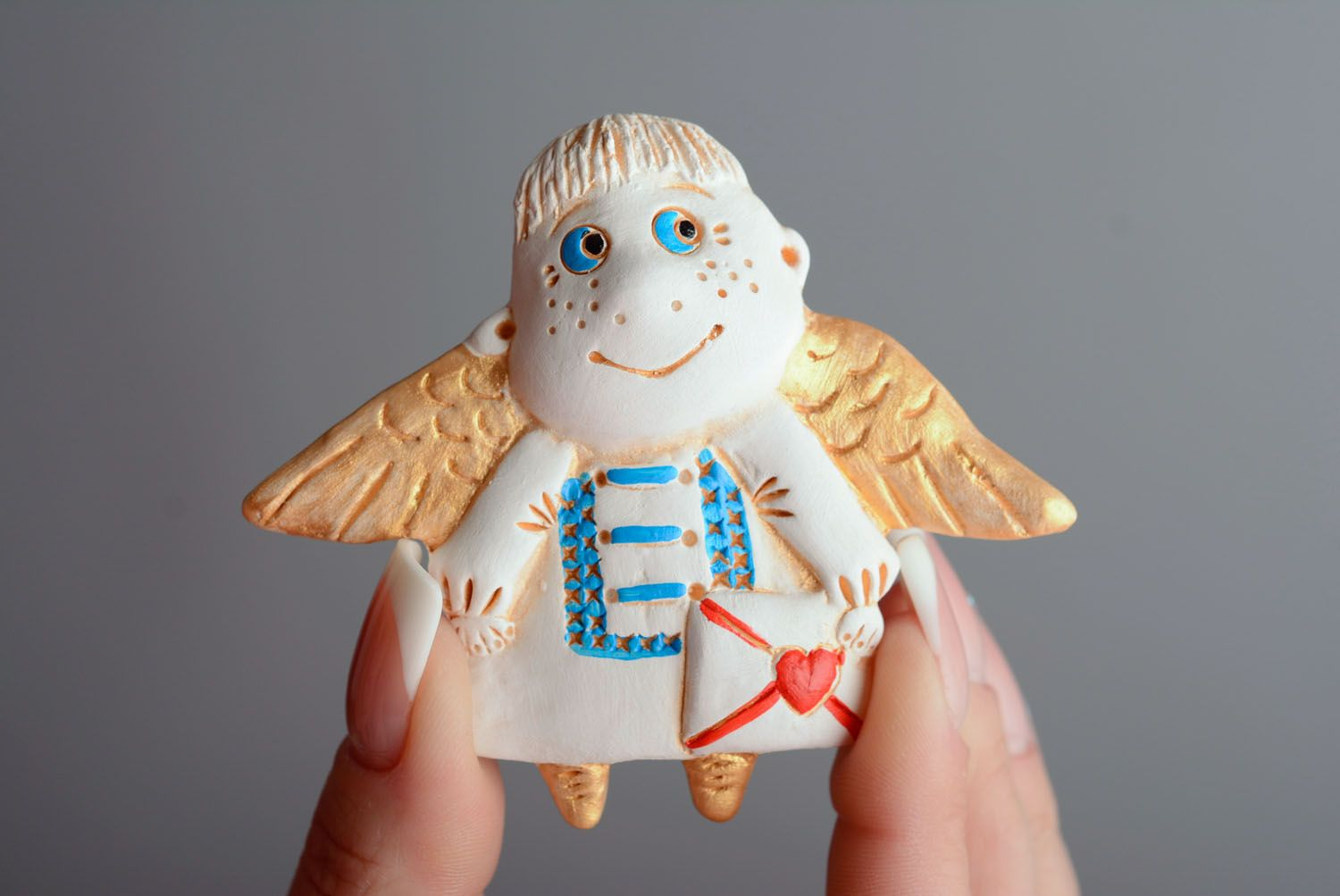 Homemade fridge magnet Angel with Letter photo 3
