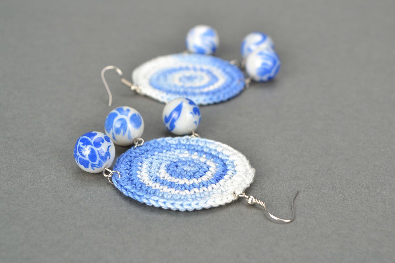 Homemade crochet earrings Eastern photo 1