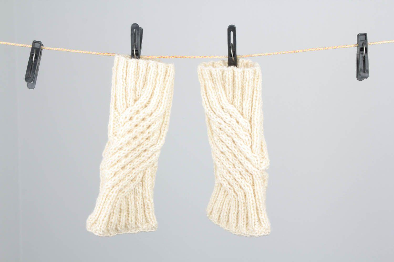 White women's mittens photo 5