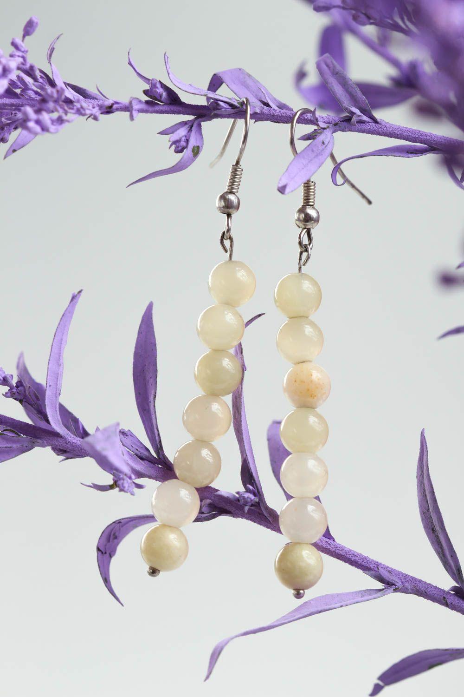 Unusual handmade gemstone earrings long beaded earrings fashion trends photo 1