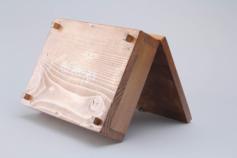de madeira e pintada à mão. Dê ao seu marido uma caixa de madeira  #885A43 1500x1000