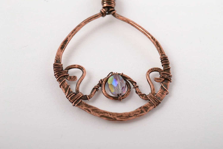 Handmade earrings copper accessory gift ideas unusual earrings for girl photo 4