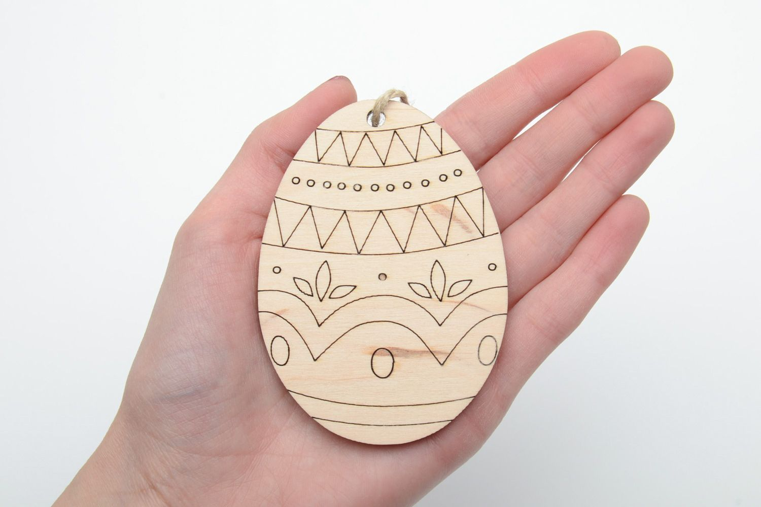 eggs for decoupage Plywood interior pendant magnet Easter Egg - MADEheart.com