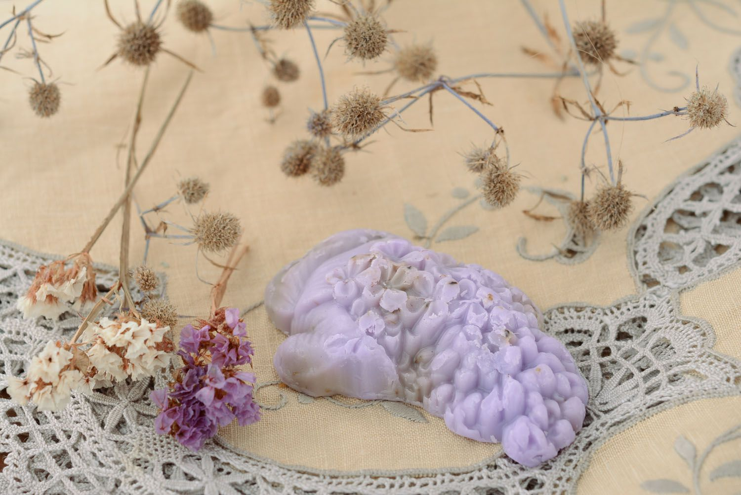 Homemade soap with lilac flowers photo 4