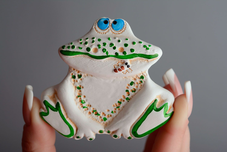 Ceramic fridge magnet Frog photo 3