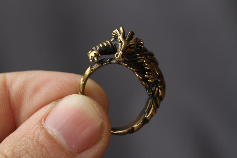Bronze ring Dragon photo 3