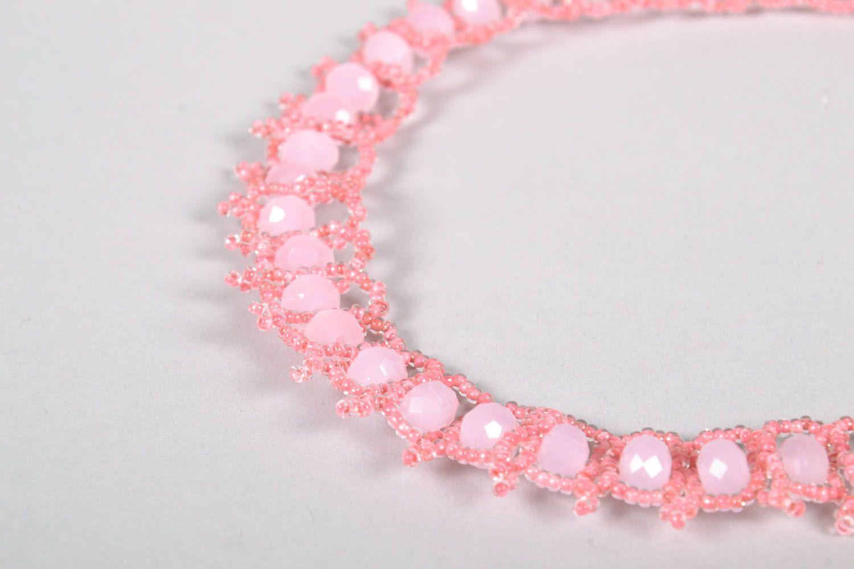 Плетеное ожерелье из бисера фото 4