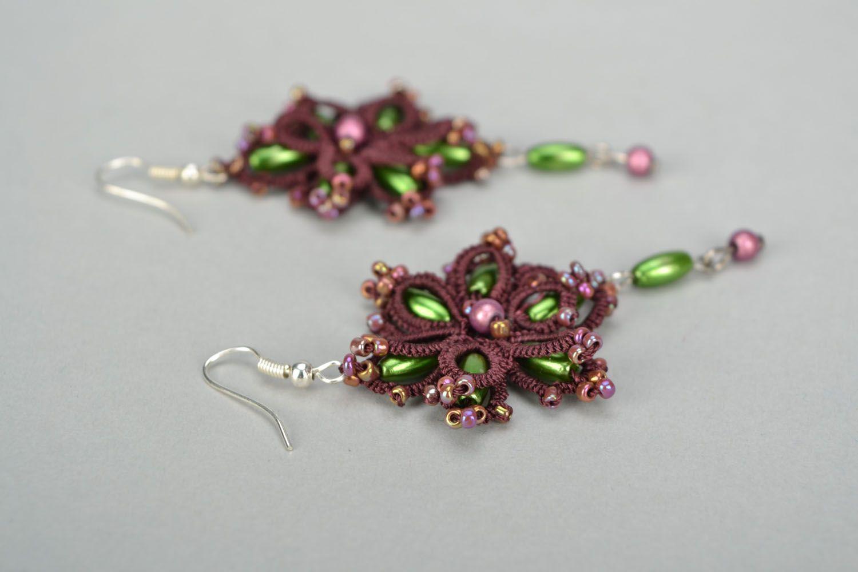 Homemade lace earrings photo 3