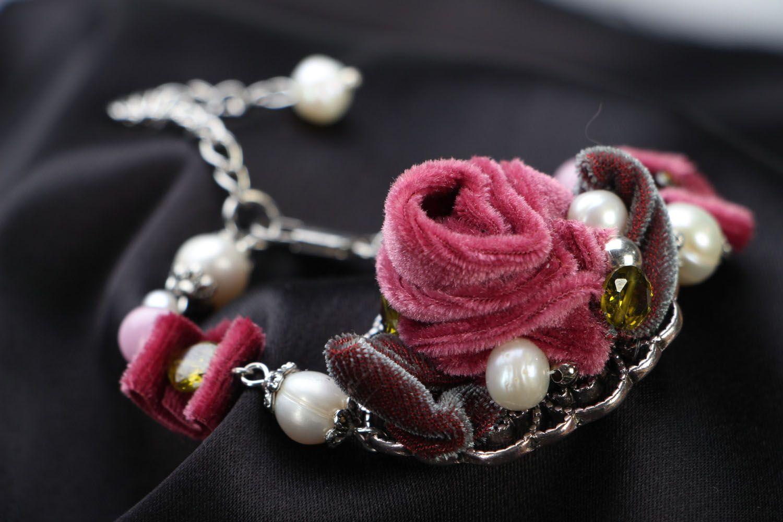 Armband aus Natursteinen Rose foto 2