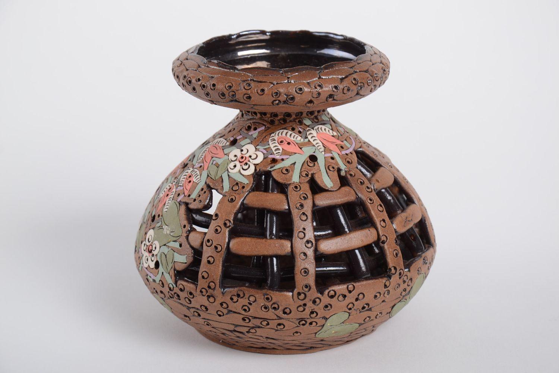 Handmade carved designer candlestick stylish aroma lamp ceramic candlestick photo 4