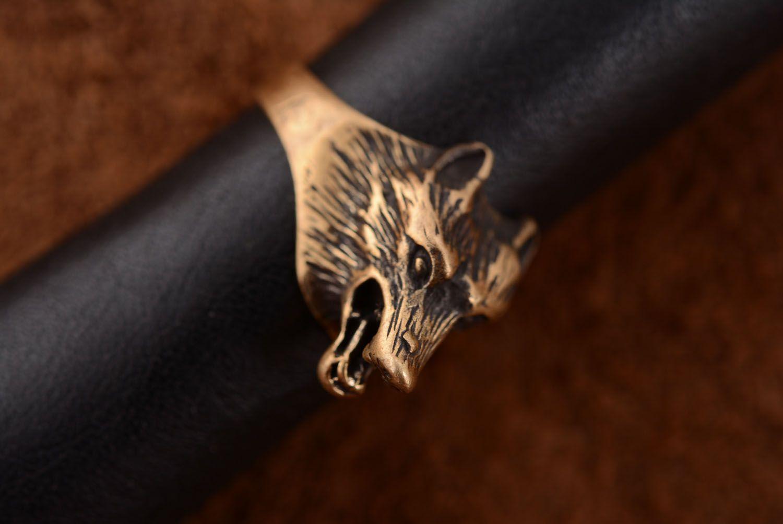 Homemade bronze seal ring photo 3