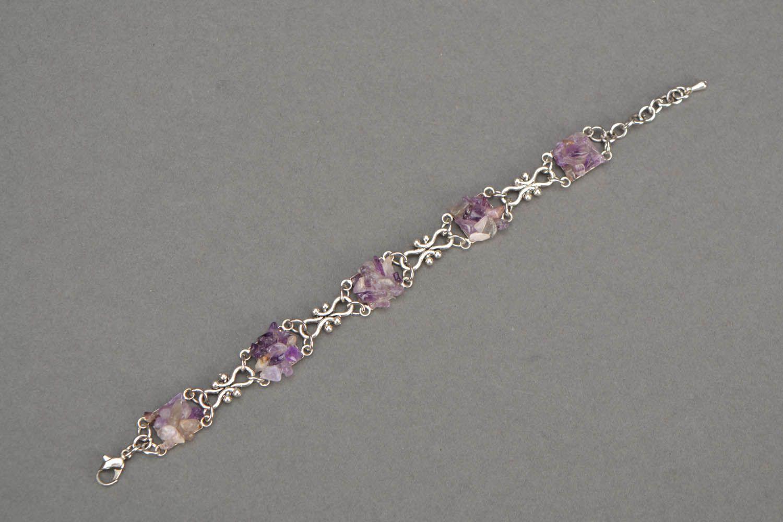 Bracelet with amethyst stone photo 3