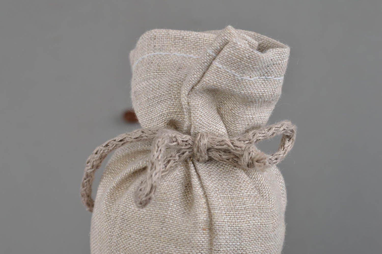 Soft small textile sack handmade textile souvenir stylish unusual sachet photo 5