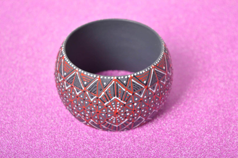 Holz Armband handgemachter Schmuck Damen Armband Geschenk für Frauen breit schön foto 2