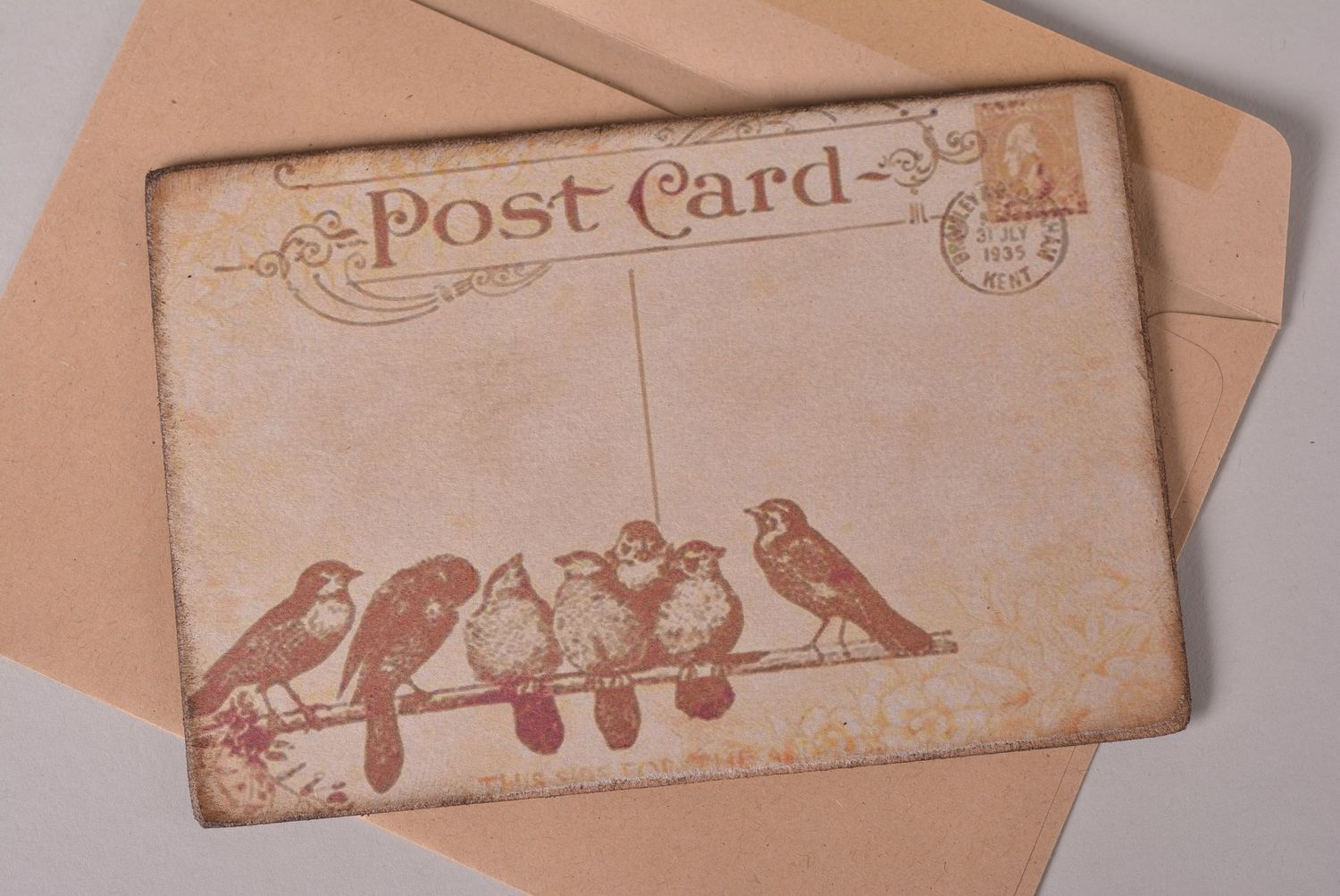 Unusual handmade post card greeting cards vintage card birthday gift ideas - MADEheart.com