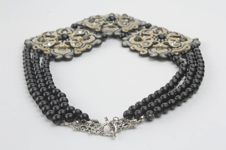 Ожерелье в сутажной технике фото 2