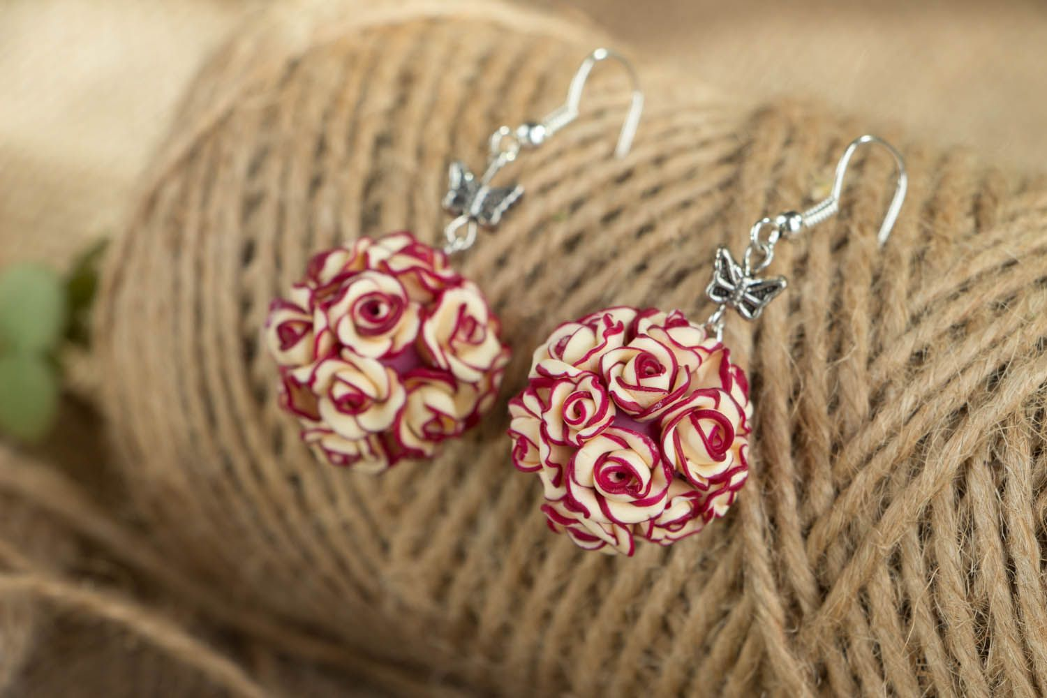 Earrings with rose charms  photo 4
