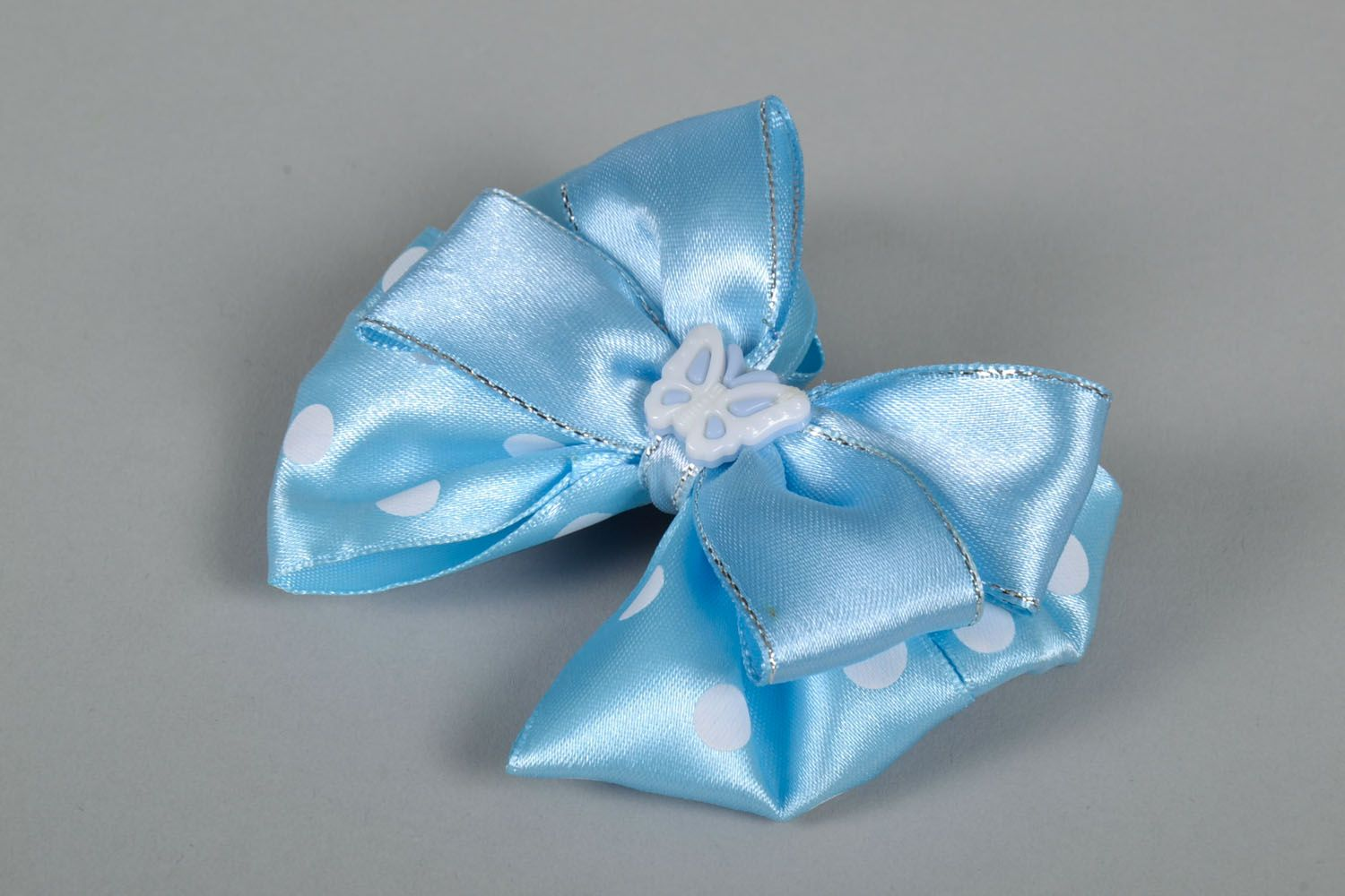 Bow hair clip photo 3