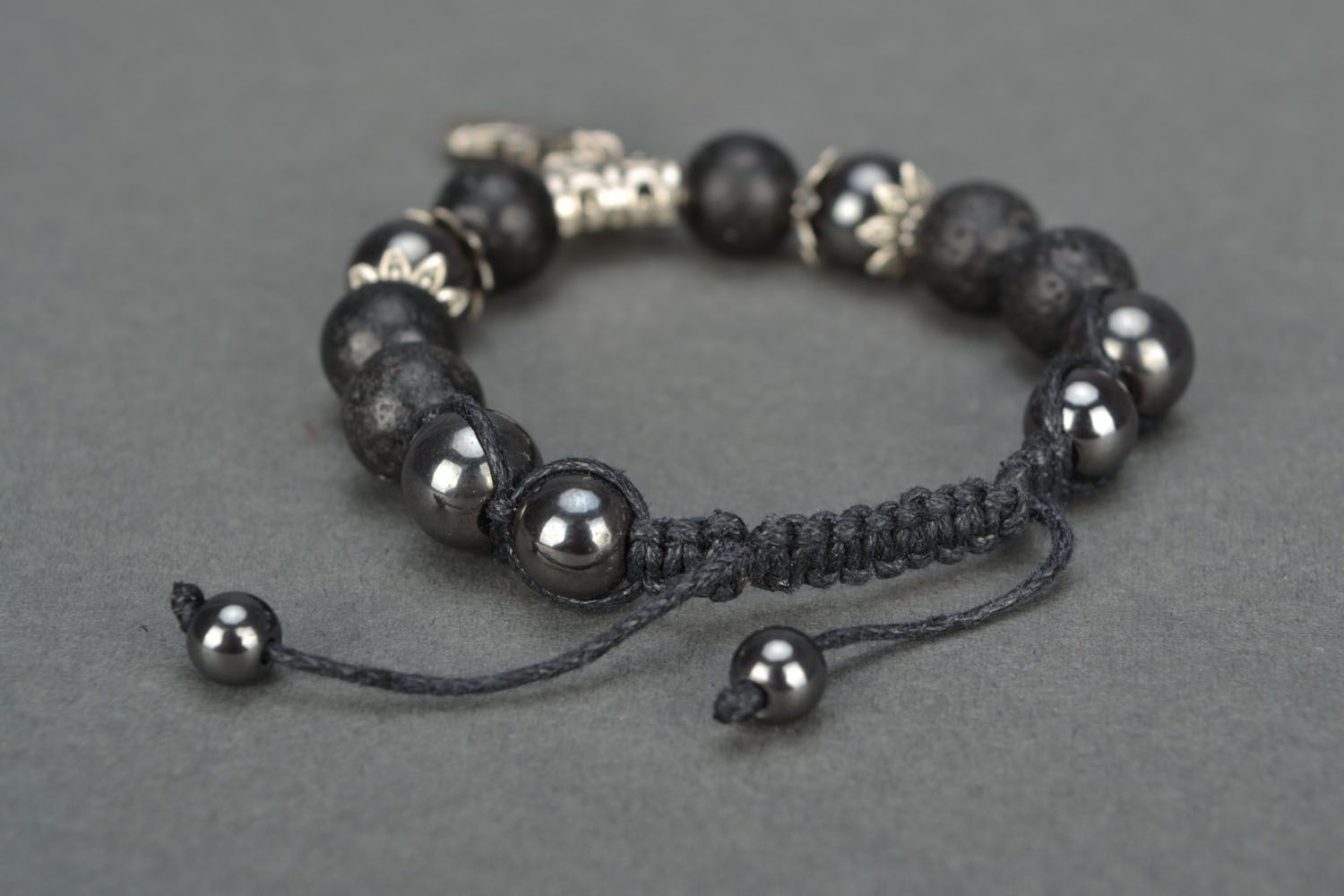 Women's volcanic lava bracelet  photo 4
