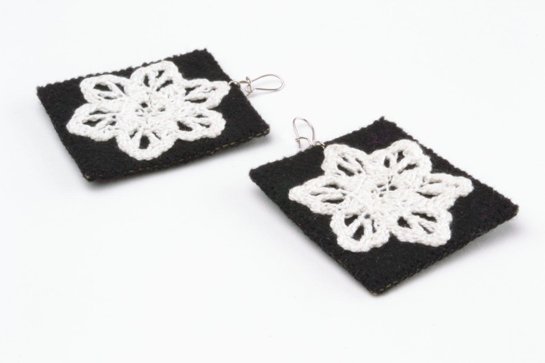 Fabric earrings photo 5