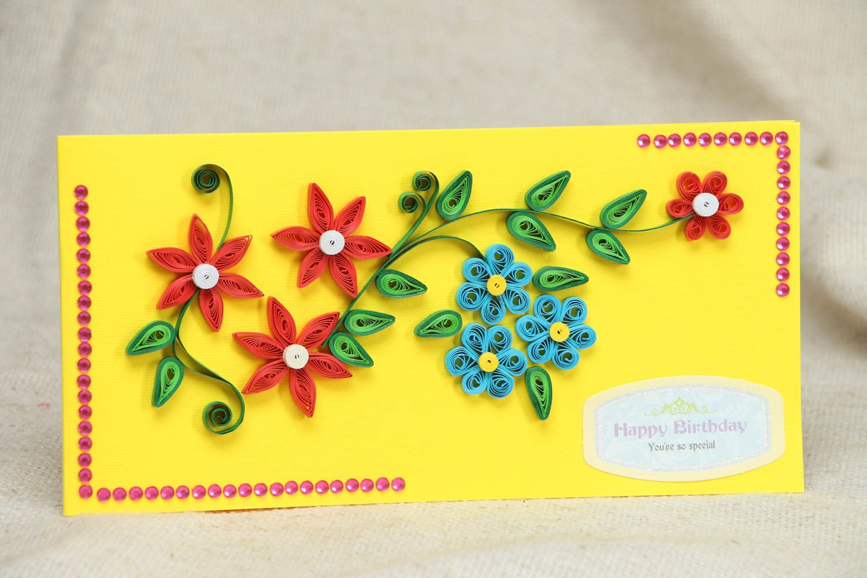 Handmade greeting card Happy Birthday photo 1