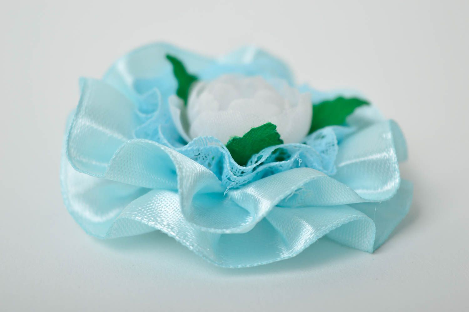Beautiful handmade flower barrette textile hair clip hair accessories for kids photo 4