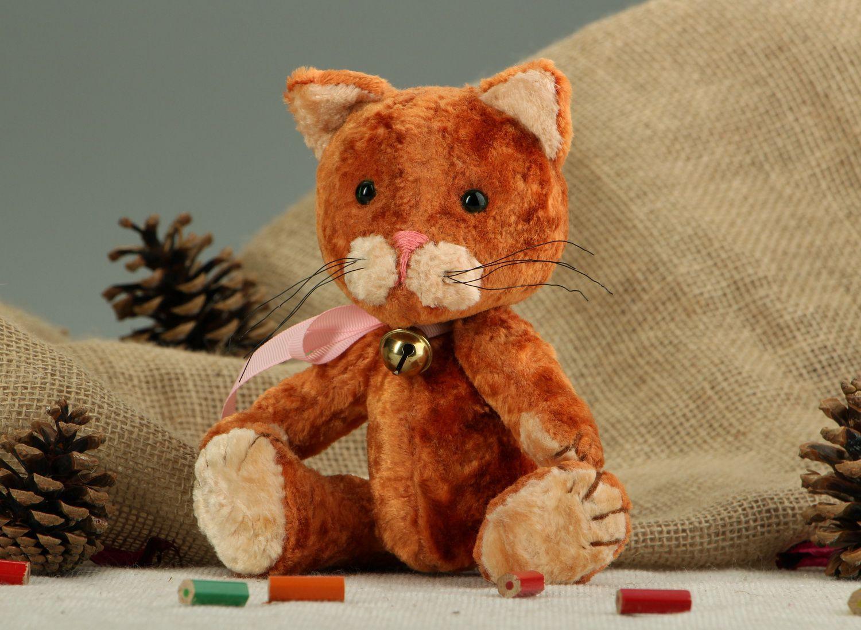 teddy bears Vintage plush cat made using Teddy technique - MADEheart.com