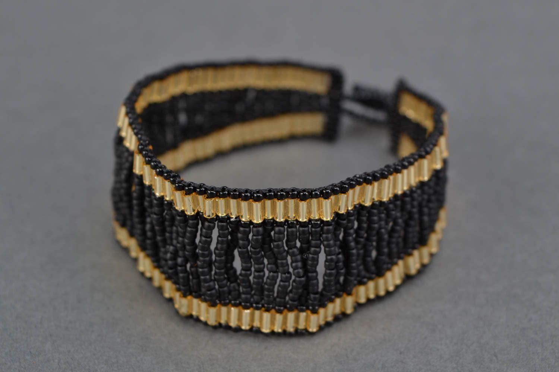 Elegant evening beaded bracelet photo 3