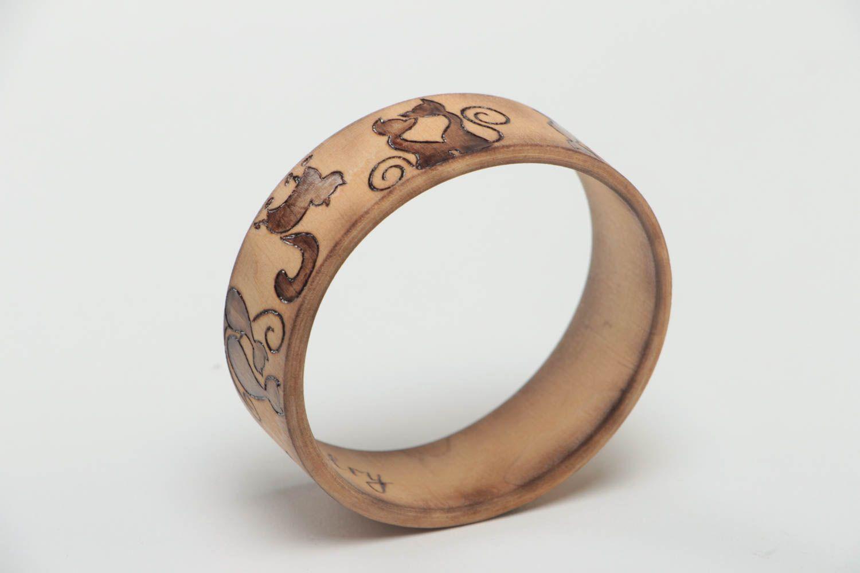 Stilvolles handmade Frauen Accessoire Schmuck Armband Mode Schmuck aus Holz foto 5