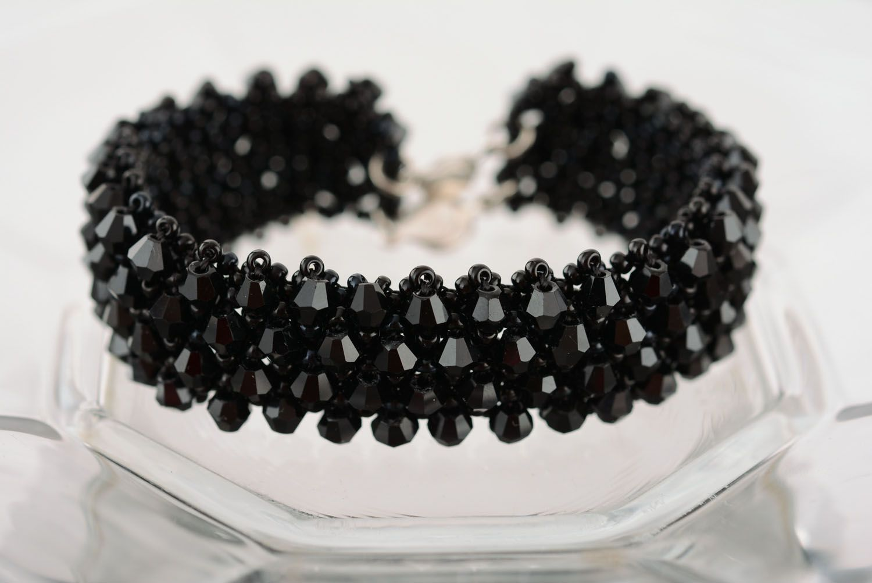 Wide black bracelet photo 1