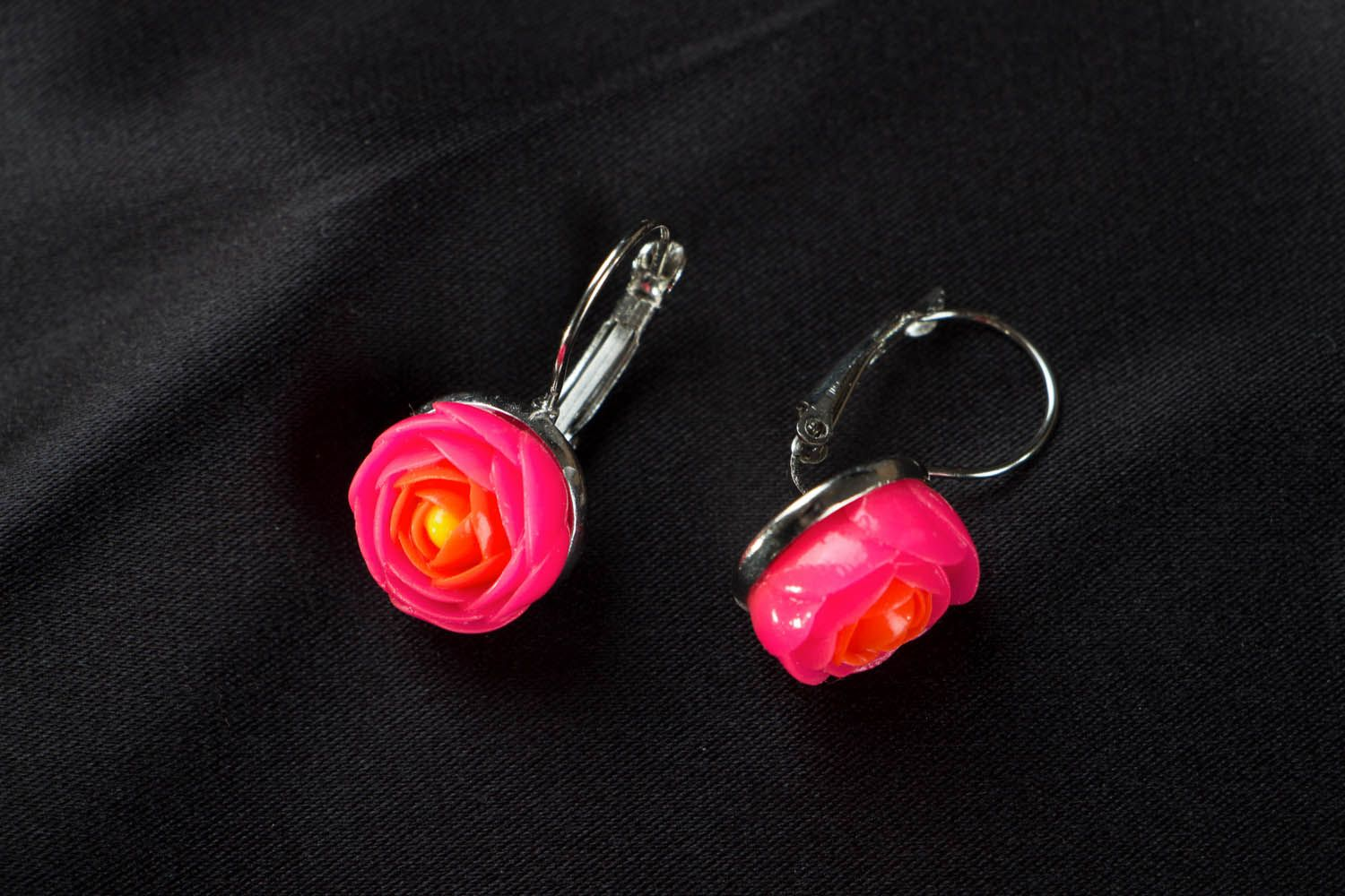 Bright polymer clay earrings  photo 1