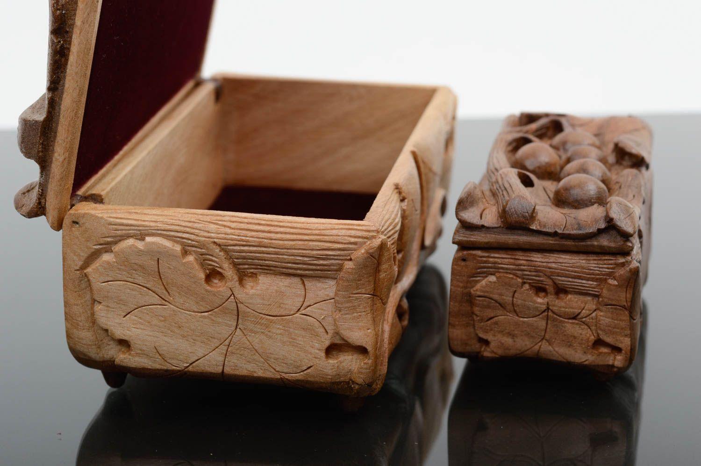 Madeheart joyeros de madera de nogal hechos a mano - Decoracion hogar original ...