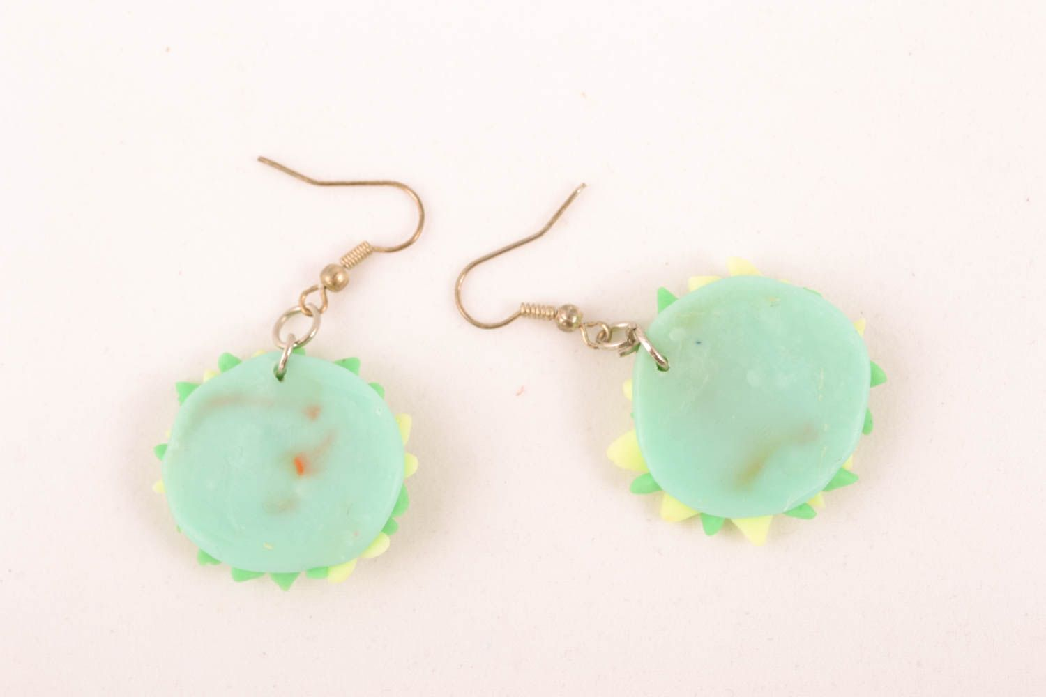 Polymer clay earrings Flowers photo 3