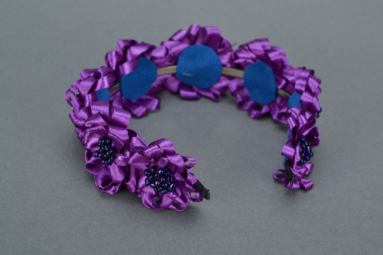 Фиолетовый обруч для волос  фото 5