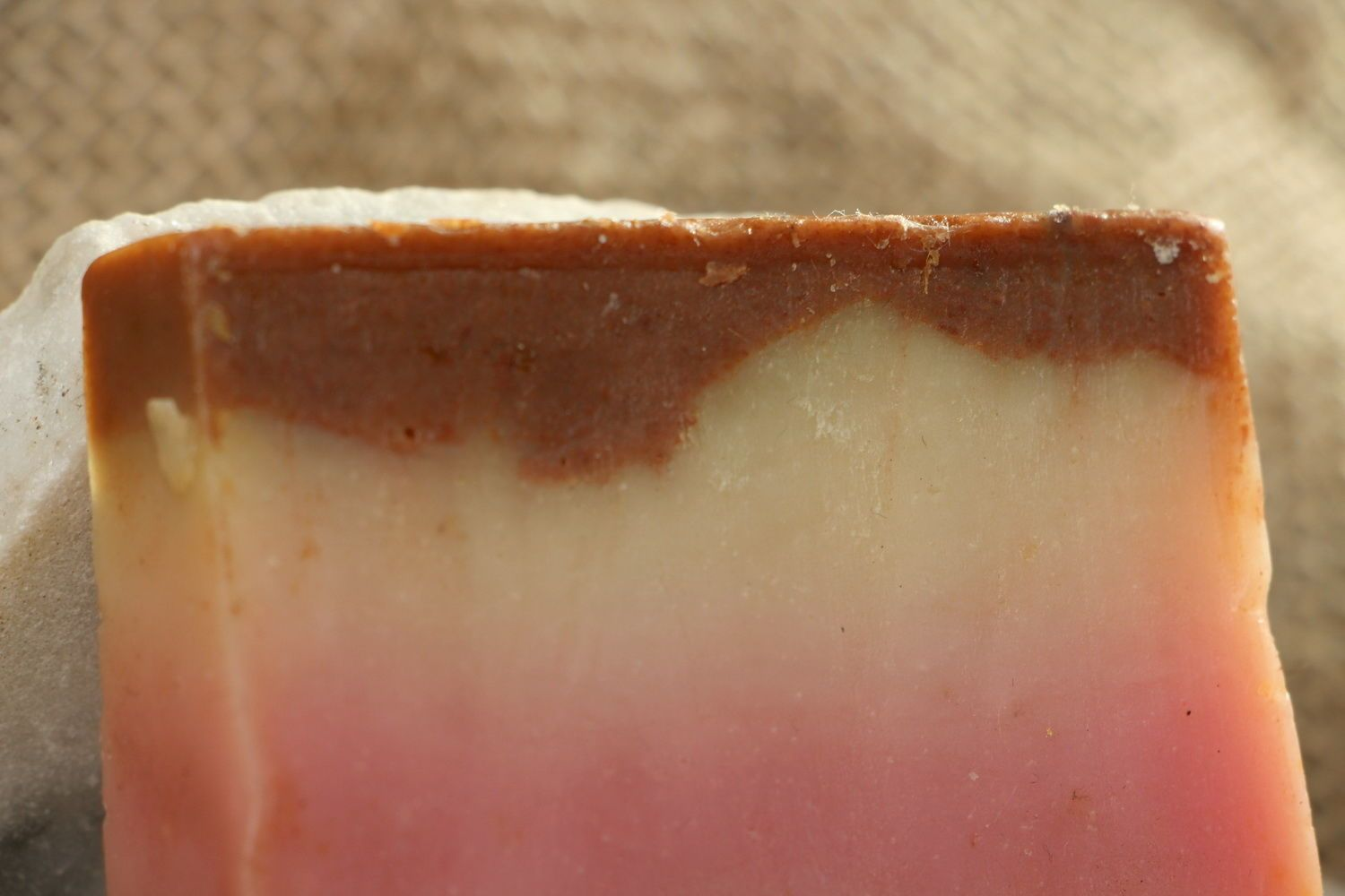 Handmade soap with a pink clay photo 4