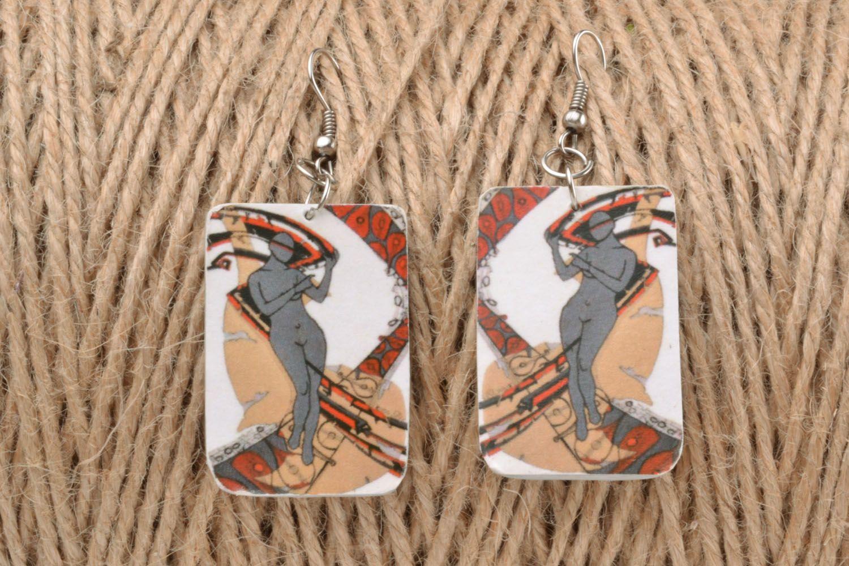 Rectangular earrings photo 1