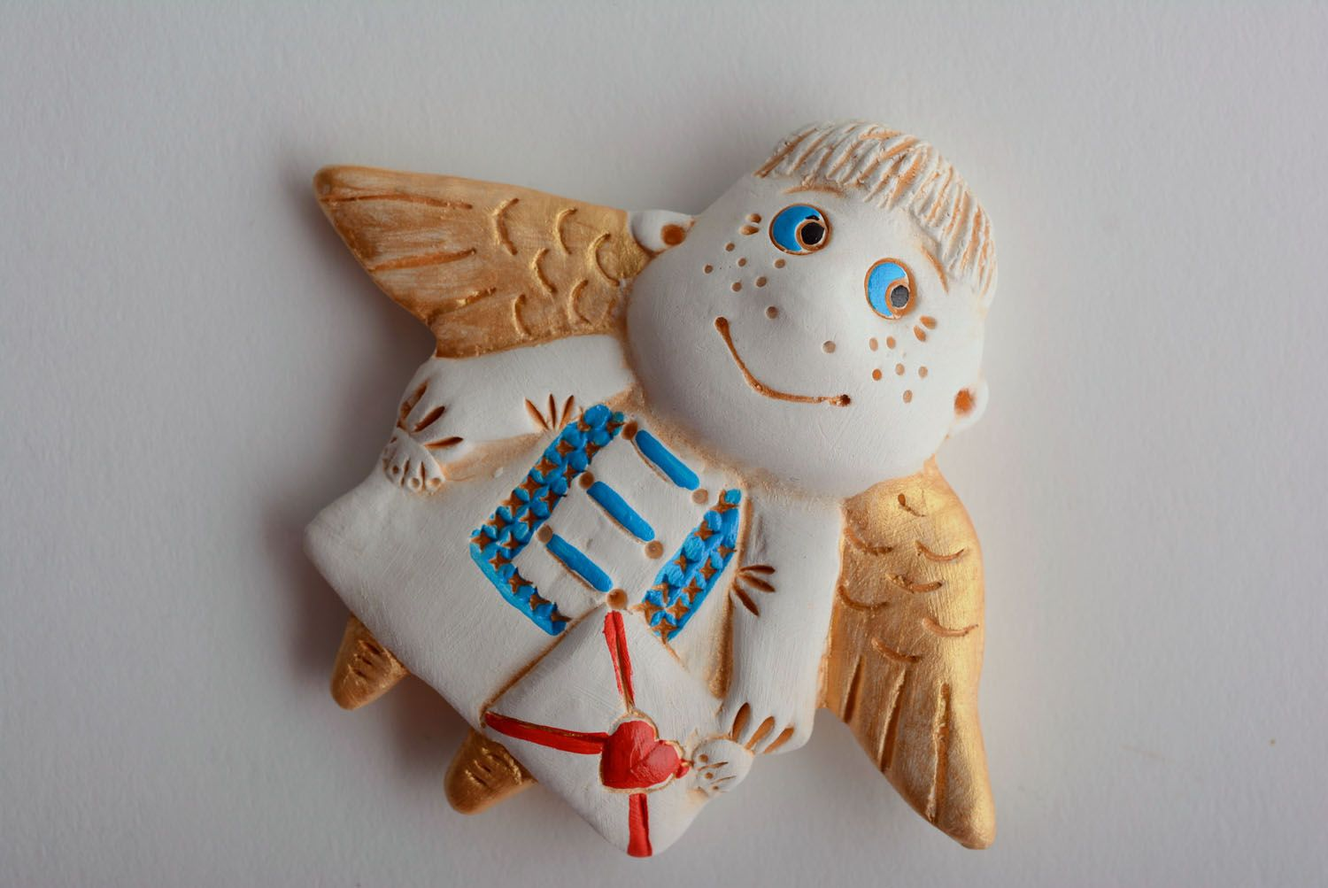 Homemade fridge magnet Angel with Letter photo 1
