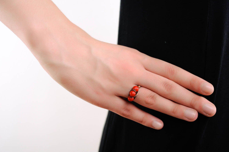 Stylish Ring Coral photo 3