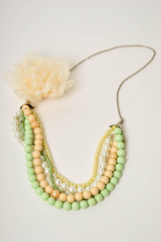 Damen Collier handgefertigt Modeschmuck Halskette Geschenk für Frauen schön foto 2